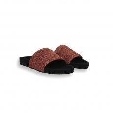 Copper elastic band black fusbett slides rubber sole