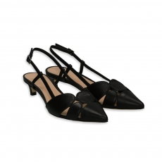 Black chanel with patchwork heel 30