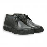 Dark grey printed calf para sole ankle boot