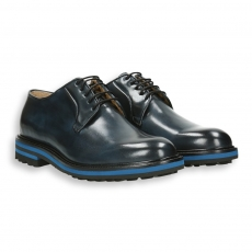 Blue calf derby micro rubber sole