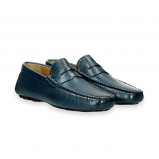 Blue deer skin Carshoe Loafer