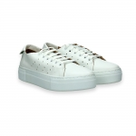 White napa leather sneaker rubber sole