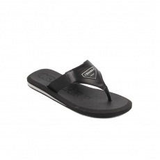 Black Leath. Flip-flop rubber sole