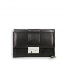 Pocket bag with shoulder chain black napa calf size 22x7h15 cm.